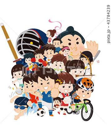 スポーツ選手 集合イラスト 43784239