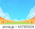 秋 山 紅葉のイラスト 43785028