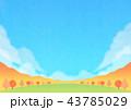 秋 山 紅葉のイラスト 43785029