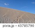 青空 砂漠 砂丘の写真 43785790