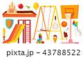 遊び場 ブランコ 振るのイラスト 43788522