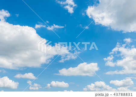 Beautiful cirrus clouds against the blue sky 43788831