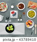 ケーキ 調理 クッキングのイラスト 43789410