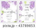 Save the date card, wedding invitation, greeting card with beautiful flowers and letters 43789853