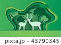 しか シカ 鹿のイラスト 43790345