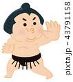 相撲 相撲取り 力士のイラスト 43791158