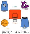 バスケ バスケットボール ボールのイラスト 43791825