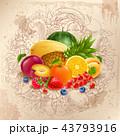 くだもの フルーツ 果実のイラスト 43793916