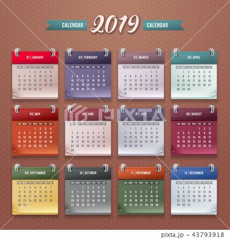 Calendar Template 2019 43793918