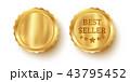 金色 黄金 金のイラスト 43795452