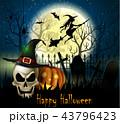 ハロウィン まほうつかい 魔女のイラスト 43796423