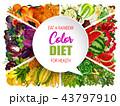 ダイエット カラー 色のイラスト 43797910