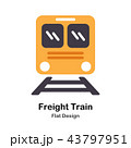 Freight Train Flat Icon 43797951