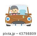 ドライブ 車 女性のイラスト 43798809