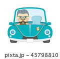 ドライブ 車 男性のイラスト 43798810