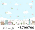 バルーン 風船 街並みのイラスト 43799790