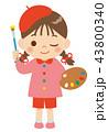 お絵描き 女の子 43800340