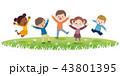 ジャンプ ベクター 子供達のイラスト 43801395