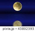海に映る月 43802393
