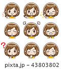 女性 表情 セットのイラスト 43803802