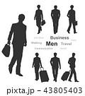 ビジネス 男性 出張のイラスト 43805403