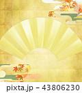 金箔 和柄 扇のイラスト 43806230