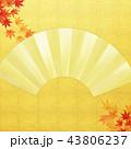 金箔 和柄 扇のイラスト 43806237