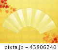 金箔 背景 扇のイラスト 43806240