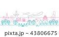 街並 線画 大阪 43806675