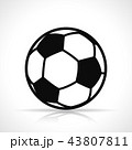 サッカー フットボール 蹴球のイラスト 43807811