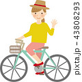 自転車の女性 43808293