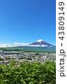 富士山 春 新緑の写真 43809149