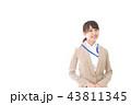 笑顔の若いビジネスウーマン 43811345