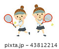 テニスをする女性 43812214