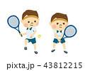 テニスをする男性 43812215