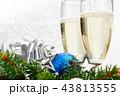 クリスマス ガラス製 グラスの写真 43813555