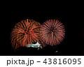 滋賀県 彦根・北びわ湖大花火大会 彦根城の天守閣 43816095