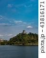 愛知県 犬山城と木曽川 日本ライン夏まつり納涼花火大会の日 43816171