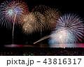 福井県 三国花火大会 打ち上げ花火 斜め打ち スターマイン 比較明合成 43816317