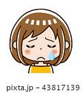 女性 表情 泣く 43817139