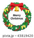 クリスマス リース ベルのイラスト 43819420