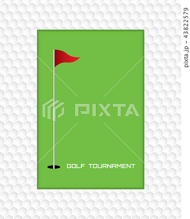 golf invitation flyer poster template graphicのイラスト素材