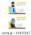 イスラム教徒 電話をする 呼ぶのイラスト 43825567