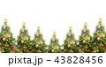 クリスマス クリスマスツリー 飾りのイラスト 43828456