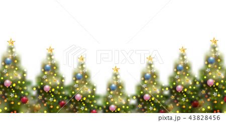 クリスマス モミの木 冬 背景  43828456