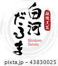 白河だるま・Shirakawa Daruma(筆文字・手書き) 43830025