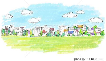 街並 手描きイラスト 43831390