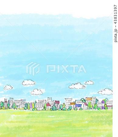 街並 手描きイラスト 43831397