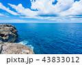 残波岬 岩場 海の写真 43833012