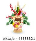 亥 亥年 門松のイラスト 43833321
